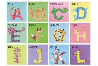 tier-alphabet pdf | basteln mit buchstaben, tierbuchstaben