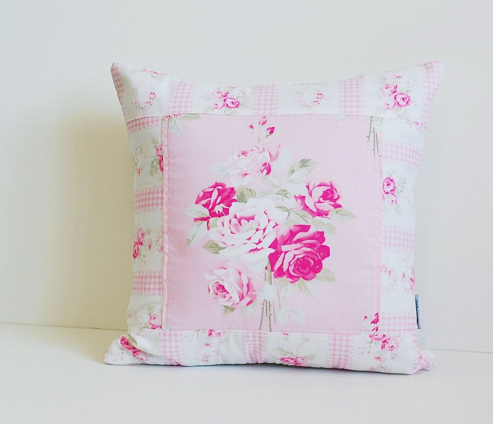Shabby Chic Pillow Cover, Quilted Cushion Cover, Quilted Pillow ...