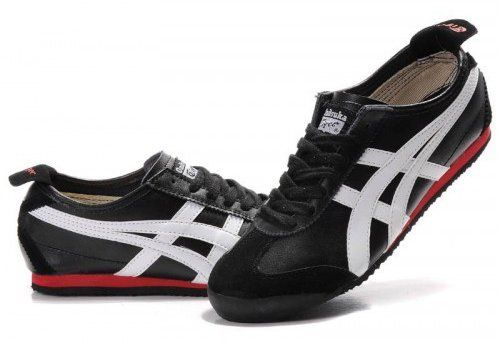 low priced 11372 58a32 Asics Onitsuka Tiger Mexico 66 Black White Red | Men's Duds ...
