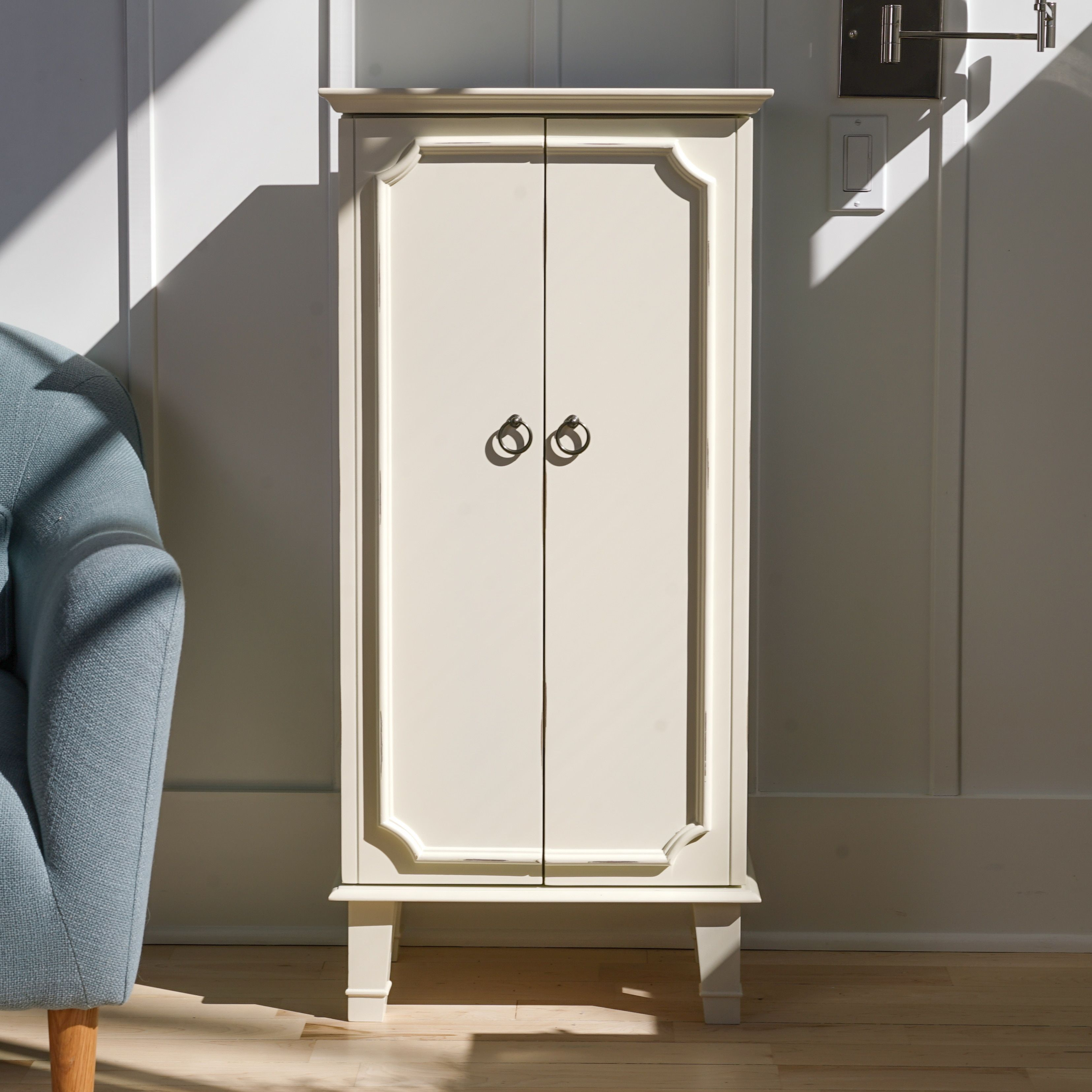 Hives and Honey Cabby Jewelry Armoire White by Hives & Honey