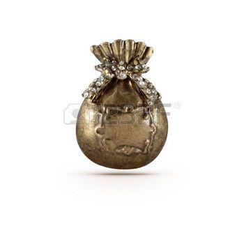 Simbolo Bronzo presente borsa su sfondo isolato photo