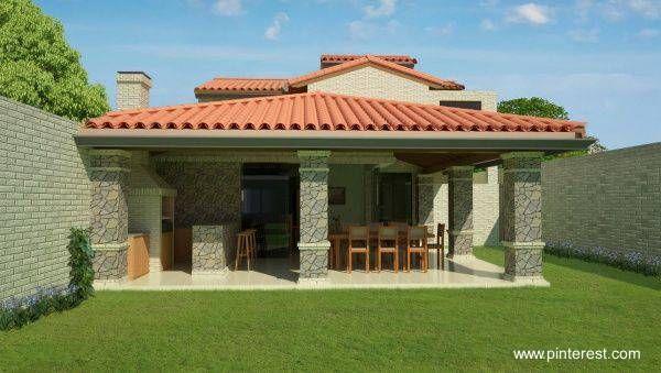 Proyecto de quincho con techo de 600 339 for Techos de casas bonitas