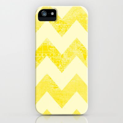 Chevron World iPhone & iPod Case ~chevrons over a yellow world map...Wow!