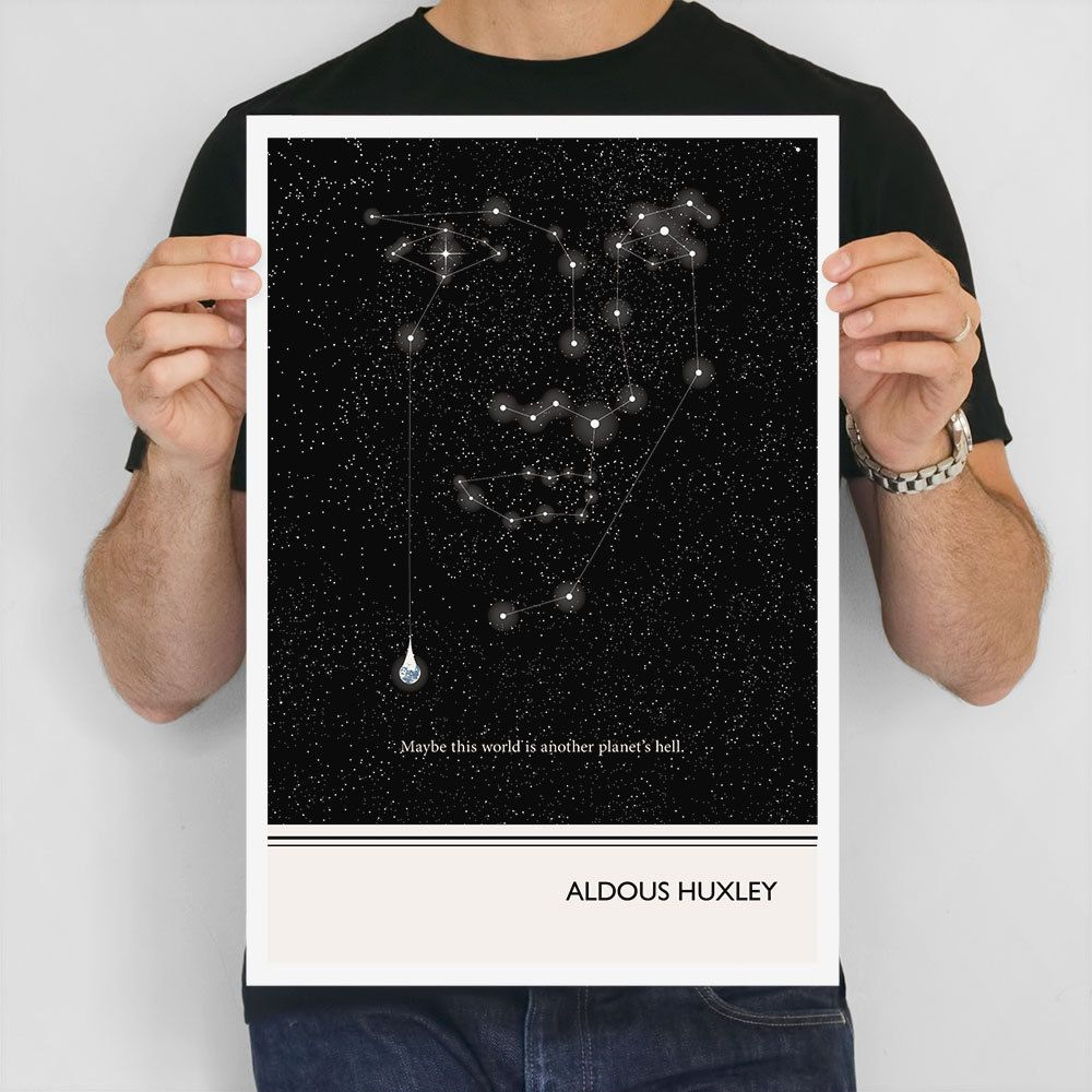 Literary Art Prints Aldous Huxley