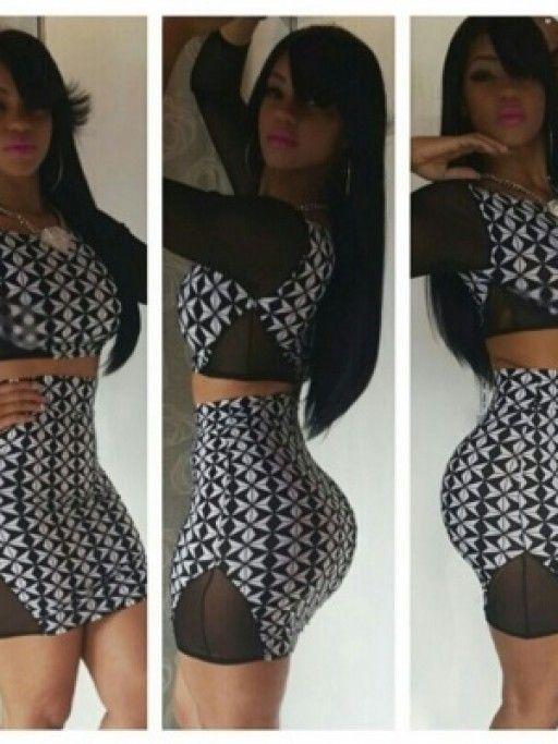 Plus Size Two Piece Bodycon Mini Dress Pinterest Mini Dresses