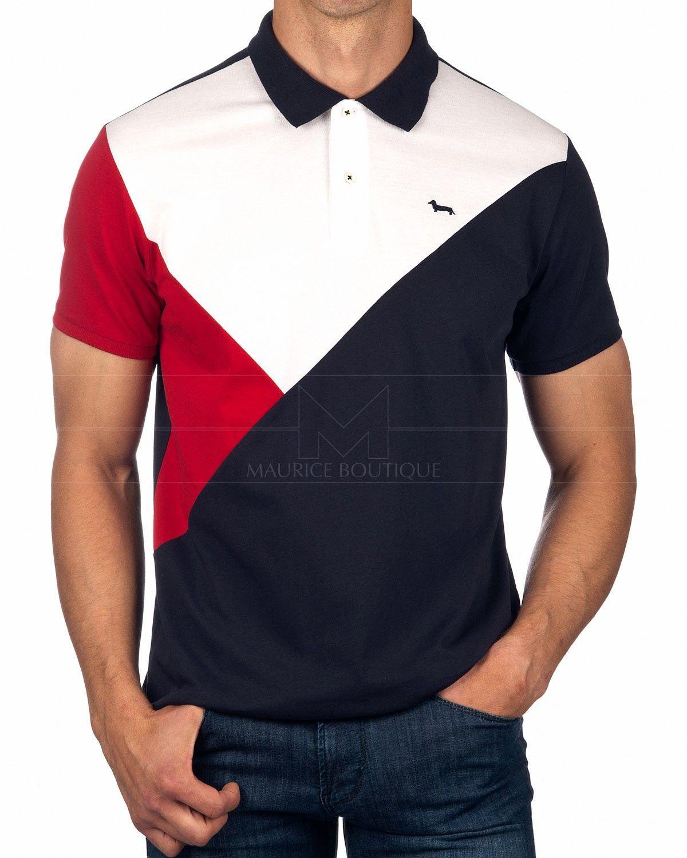 Harmont Blaine Harmont Blaine Polo Shirt Flag Tricolor In 2020 Polo Polo Shirt Flag Shirt