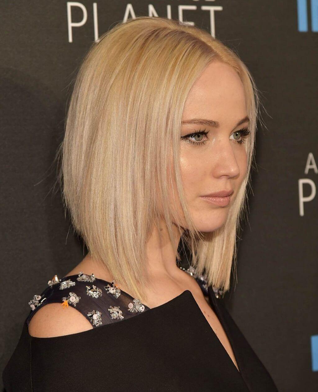 2017 Trendige Frisuren Jennifer Lawrence Trend Haare Haarschnitt Bob Bob Frisur Haar Styling