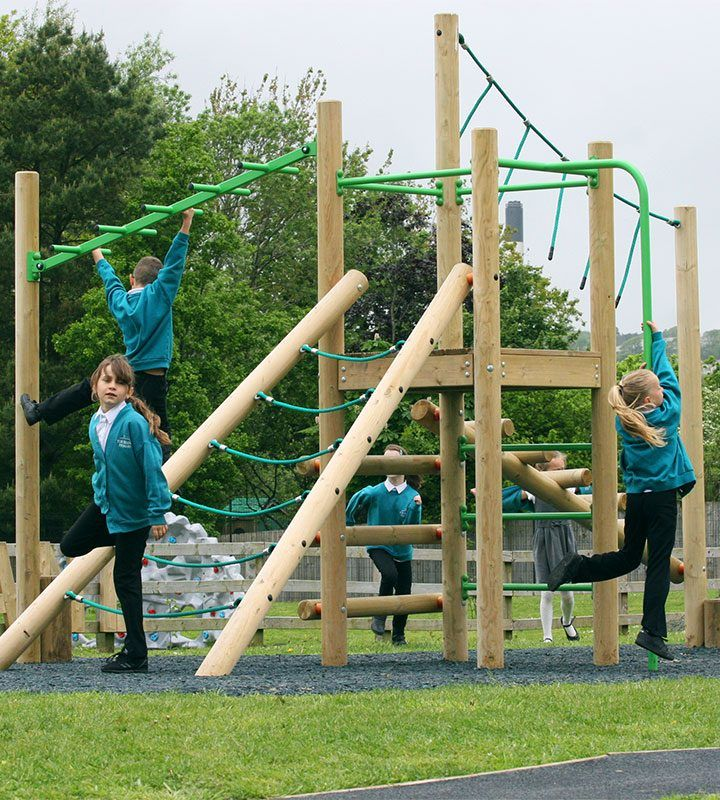 Treetops climbing frame with ropes and ladders. #EYFS #ks1 ...