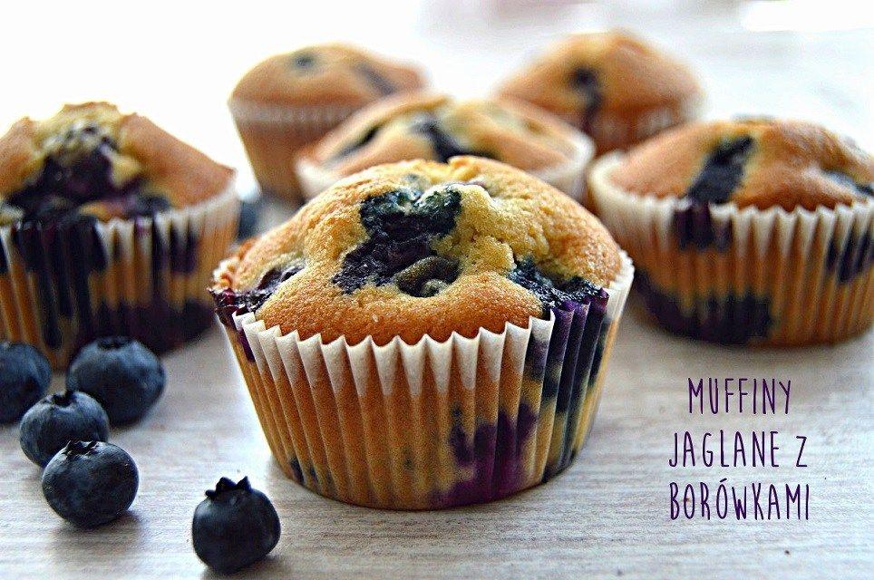 Ekspresowe Muffiny Jaglane Z Borowkami Amerykanskimi Maka Jaglana Food Workout Food Recipes