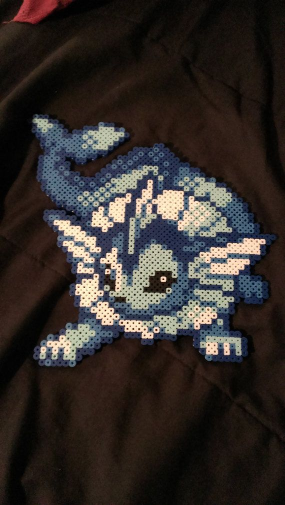 Pokemon Vaporeon Pixel Art Bead Sprite by MelParadise on Etsy