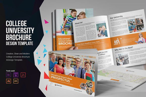 College University Prospectus V  Brochures Brochure Template And