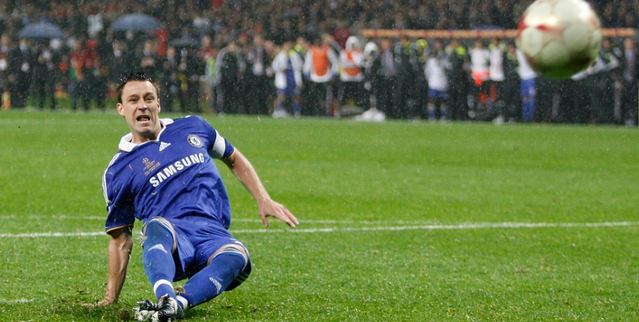 My Heart Leapt For Joy As John Terry Slipped In The Mud Chelsea Champions League Chelsea Football Club Chelsea Fans