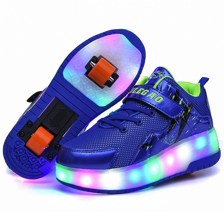Luminous sneakers led shoes with Wheels