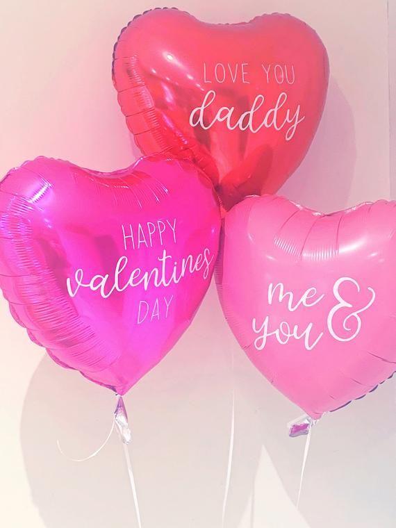 Valentines balloons, helium balloons, personalised balloon, custom wording, Valentine's Day decor, valentines decorations, be my valentine,