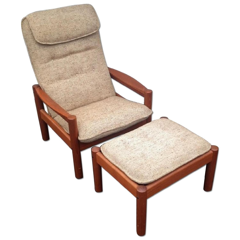 Domino Mobler Mid-Century Teak High-Back Lounge Chair