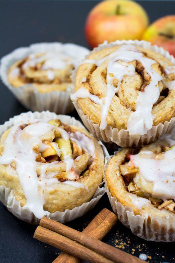 Photo of Vegan cinnamon buns with apple