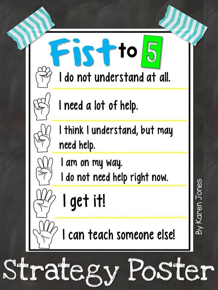 Free} Fist to 5 Strategy Poster! | CLASSROOM ORGANIZATION | Pinterest