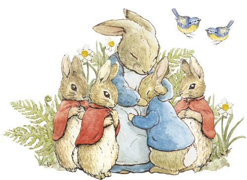 Peter Rabbit Family Hug Wall Decal Removable