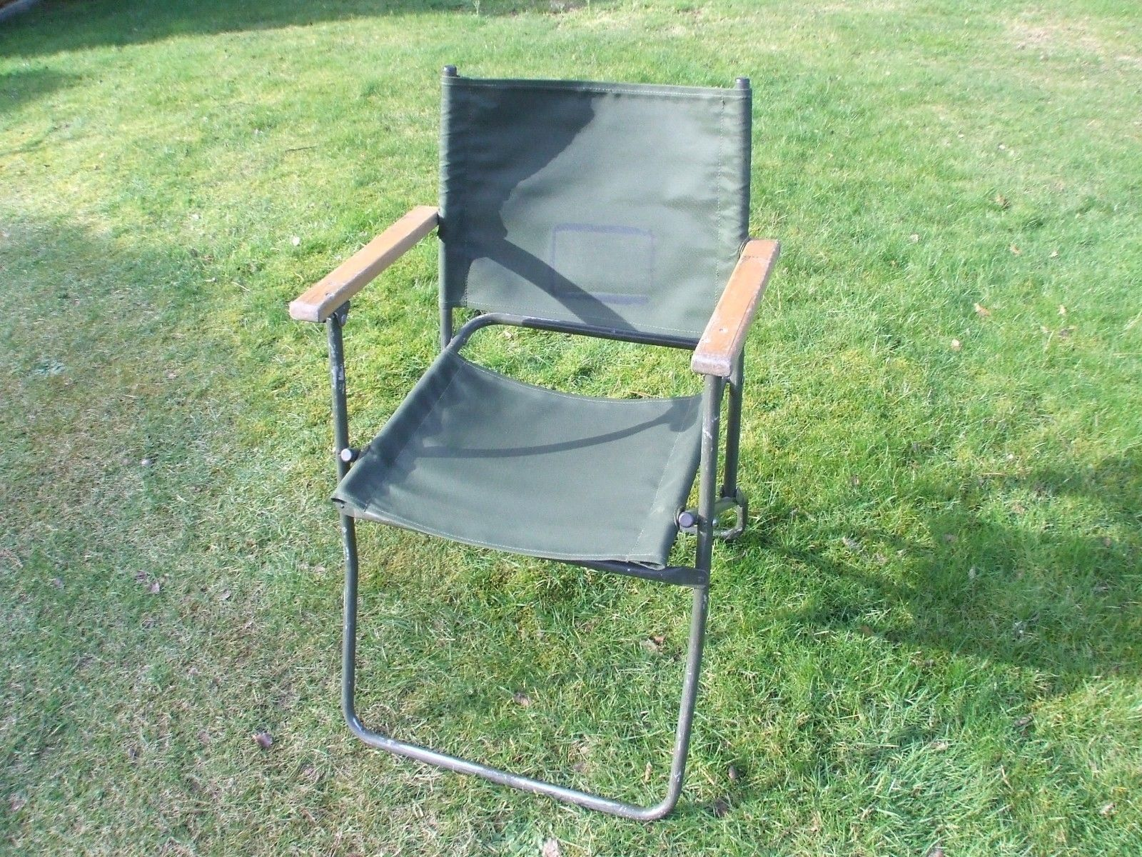 British Army Military Folding Canvas Chair Land Rover Chair Vintage Rare British Army Land Rover Vintage