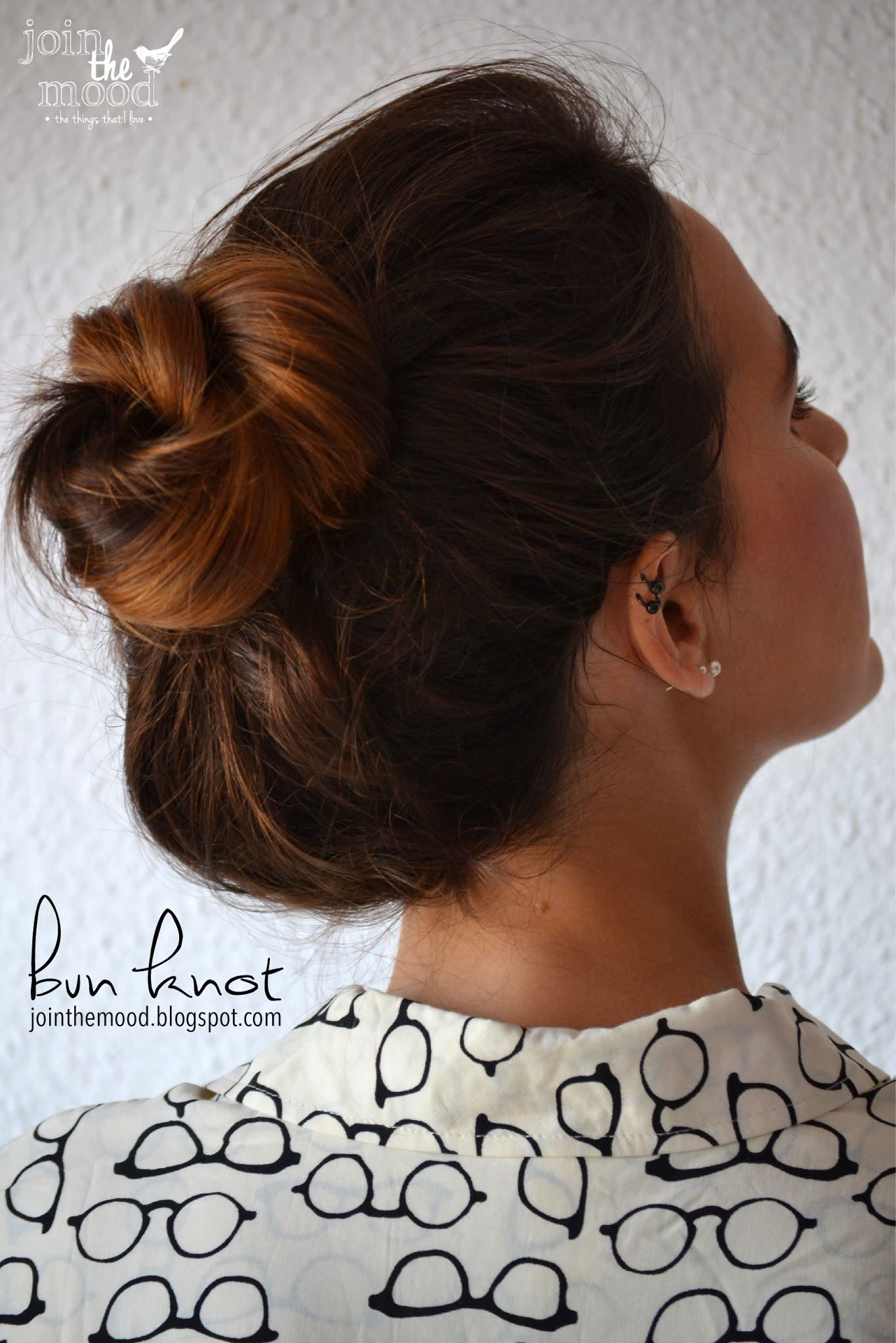 join the mood: bun knot, #bun #join #knot #mood | frisuren