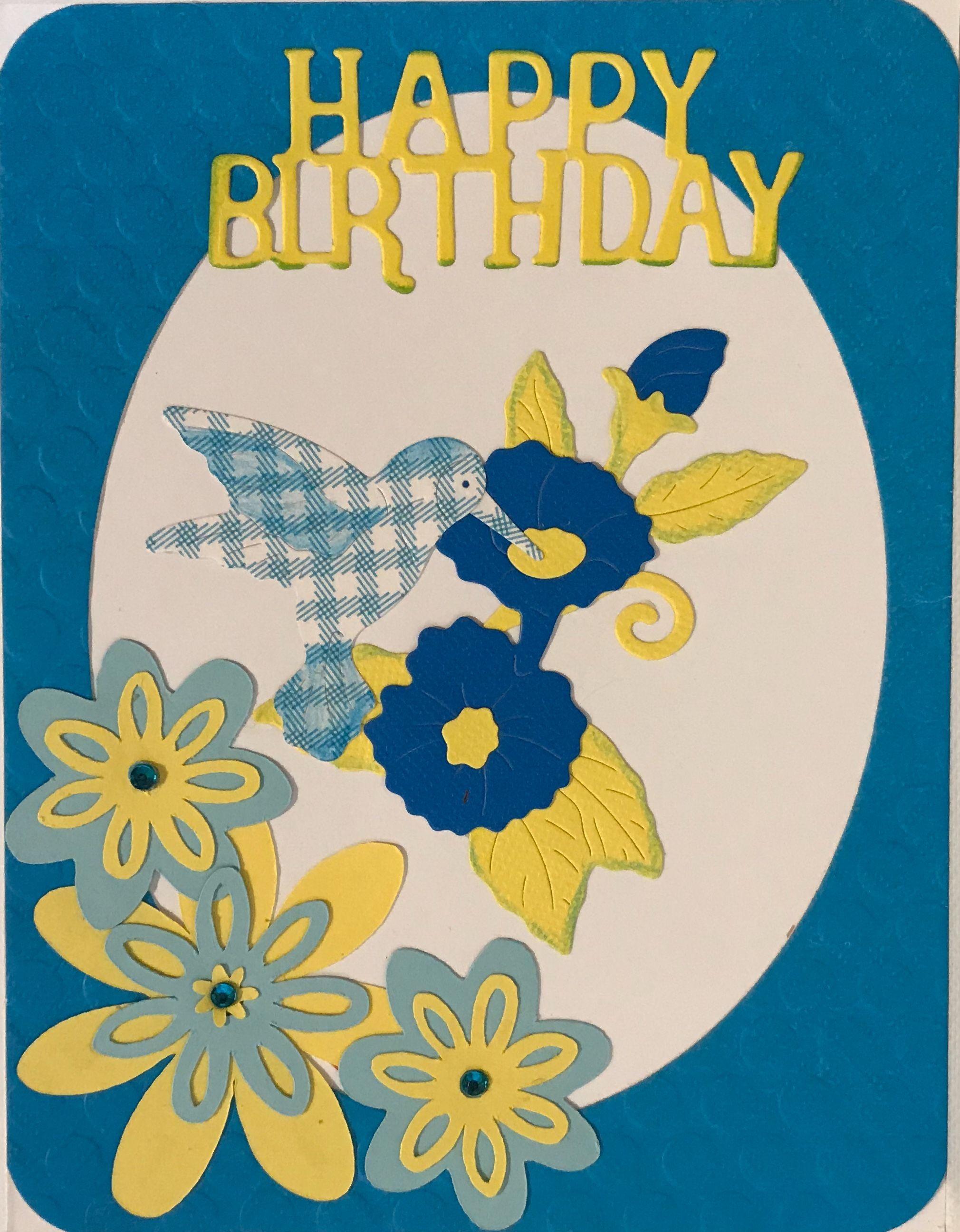 Birthday cardcottage cutz homemade cards handmade cardspaper