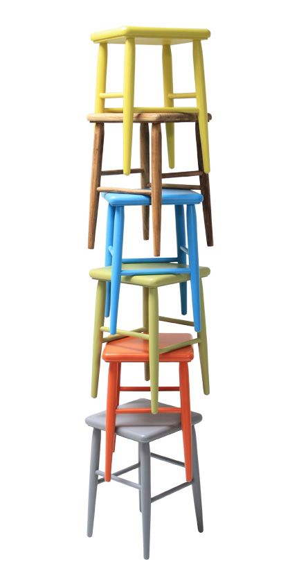 pile of retro stools by HKliving