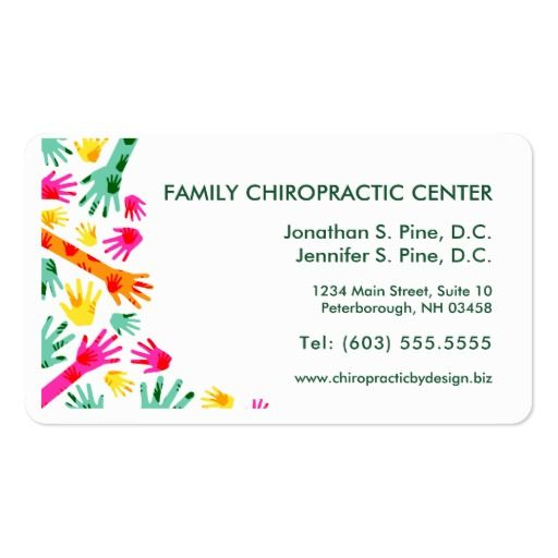 Colorful Hands Chiropractor Appointment Cards Zazzle Com Appointment Cards Standard Business Card Size Business Card Size