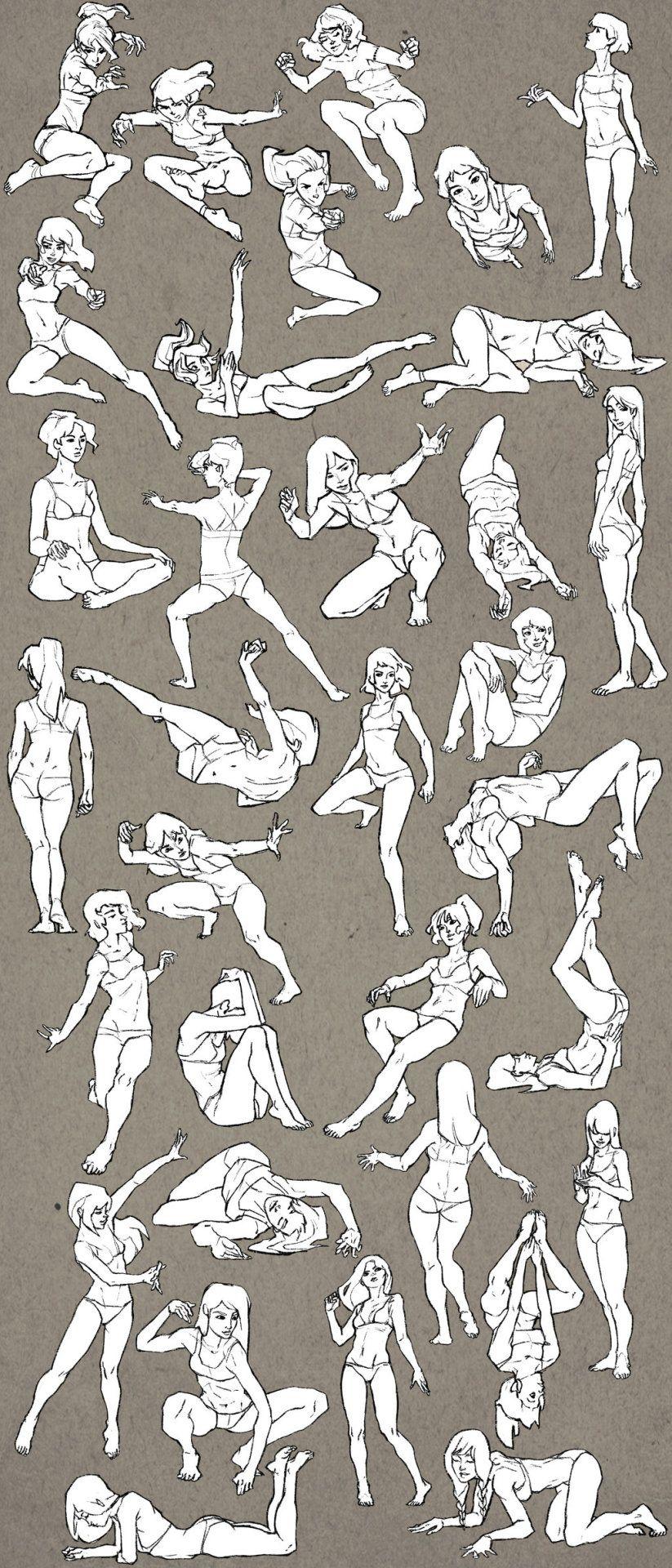 Walrus Shit — Female Study Sketchdump by *EleonoraBertolucci | Эскиз ...