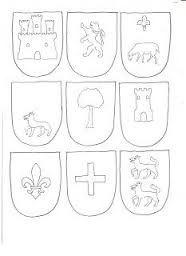 Resultado de imagen de escudos medievales para colorear e imprimir