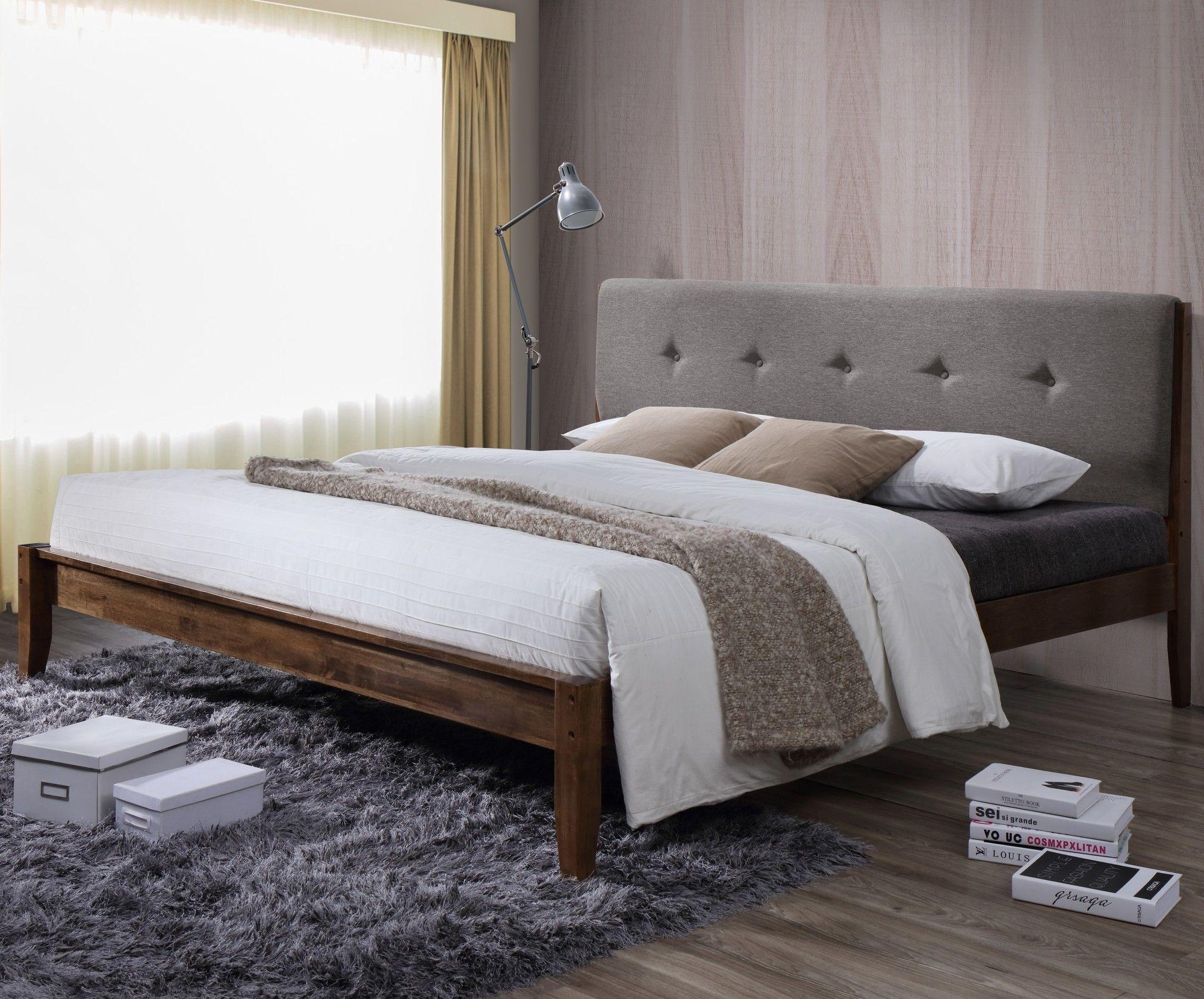baxton studio rafaele upholstered platform bed upholstered