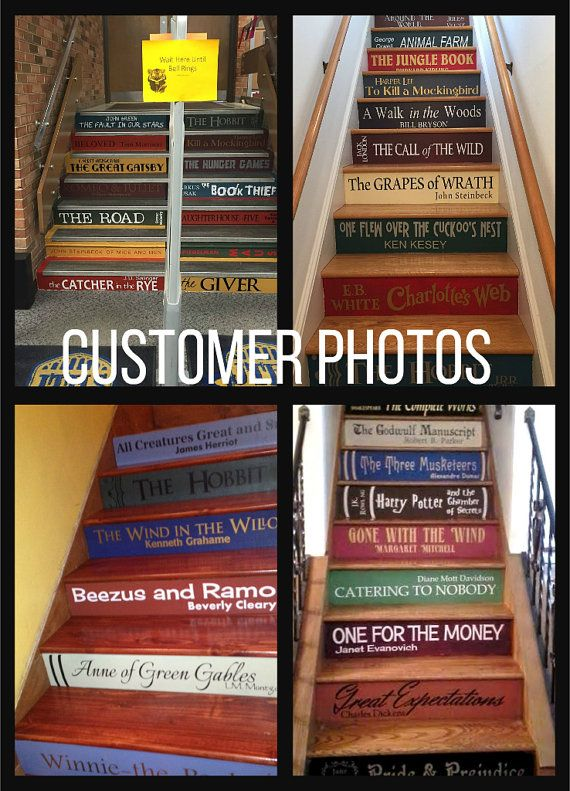 Two Or More Book Stair Decals Lettering For Diy Book