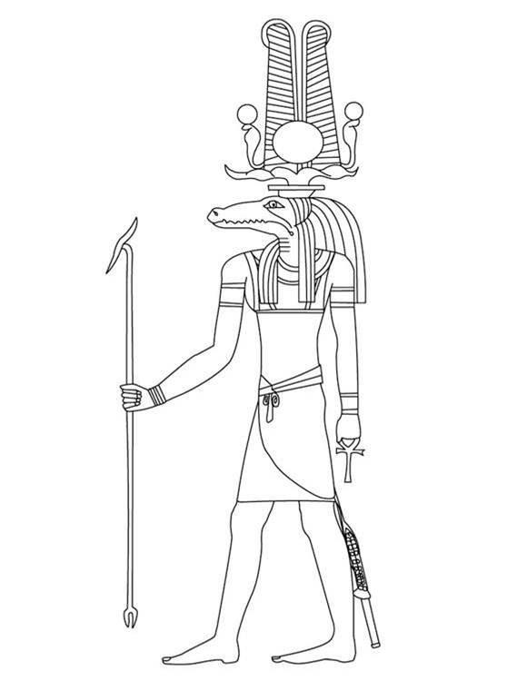 Egyptian coloring pages | Deuses egípcios | Pinterest | Egyptian and ...