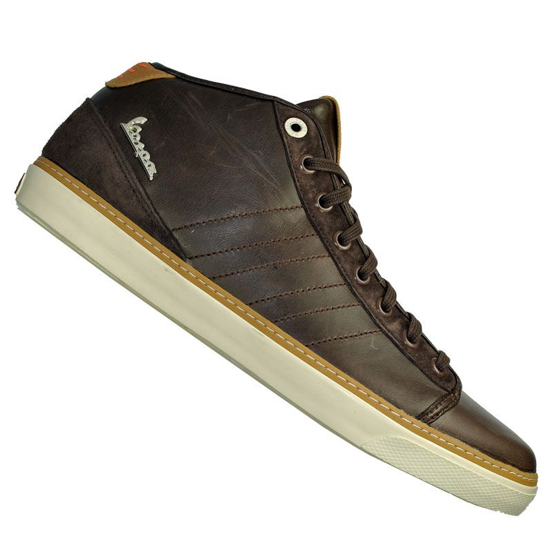 86b02f7e148 Adidas Vespa GS Mid Leather Trainer Brown | What I would want my man ...