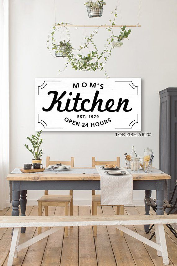 Personalized Kitchen Sign Custom Signs Rustic Canvas Print Dining Room Farmhouse Home Deco