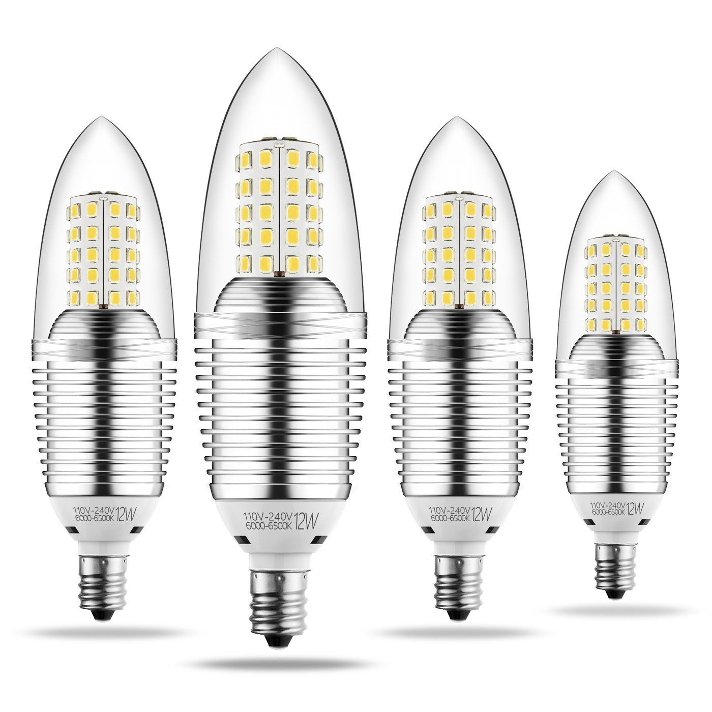 Infinite Power Candelabra Led Bulbs 12w Daylight White 6500k Led