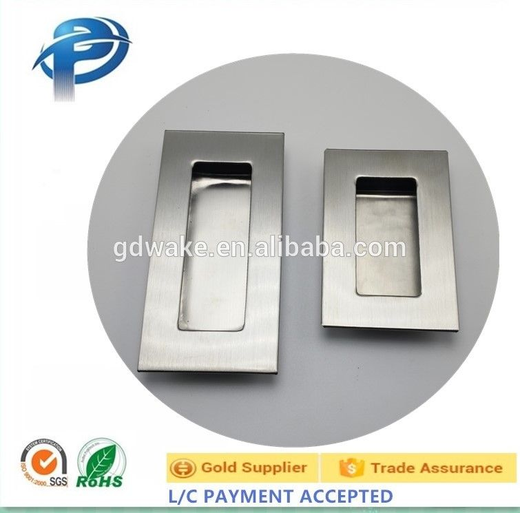 SS cabinet flush mount pull handle with AC finish alibaba