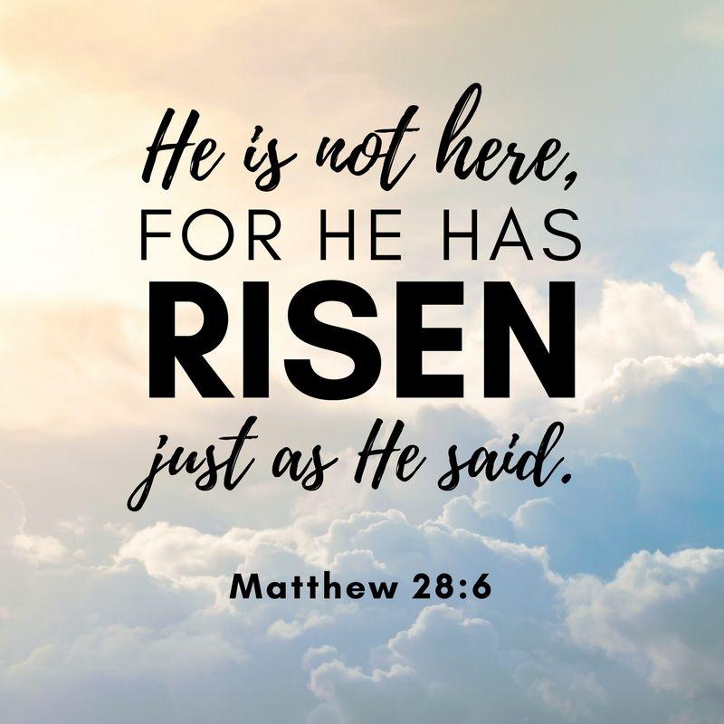 He Is Not Here For He Has Risen Just As He Said Matthew 28 6 He Has Risen Sayings Matthew 28