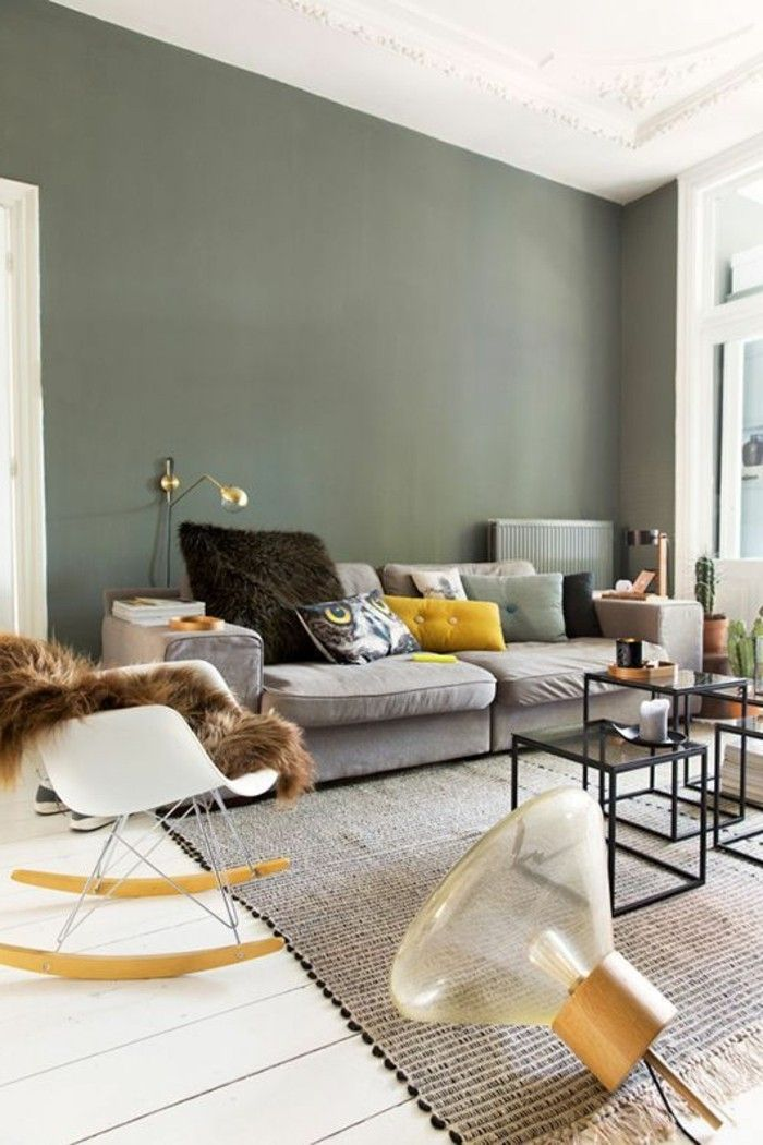 24 Wandfarbe Wohnzimmer Skandinavisch