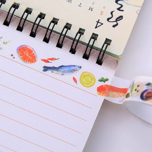 1.5cm 3m 2 style 4pcs fresh food Shokugan design Tape Adhesive Tape DIY Scrapbooking Sticker Label Masking
