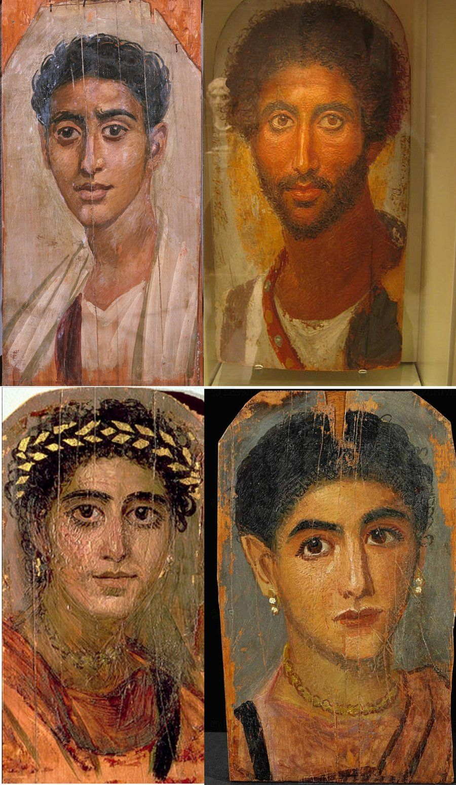 Pittura Romana Fayum Four Portrait Paintings From The 2nd Century Ad Showing Mummy