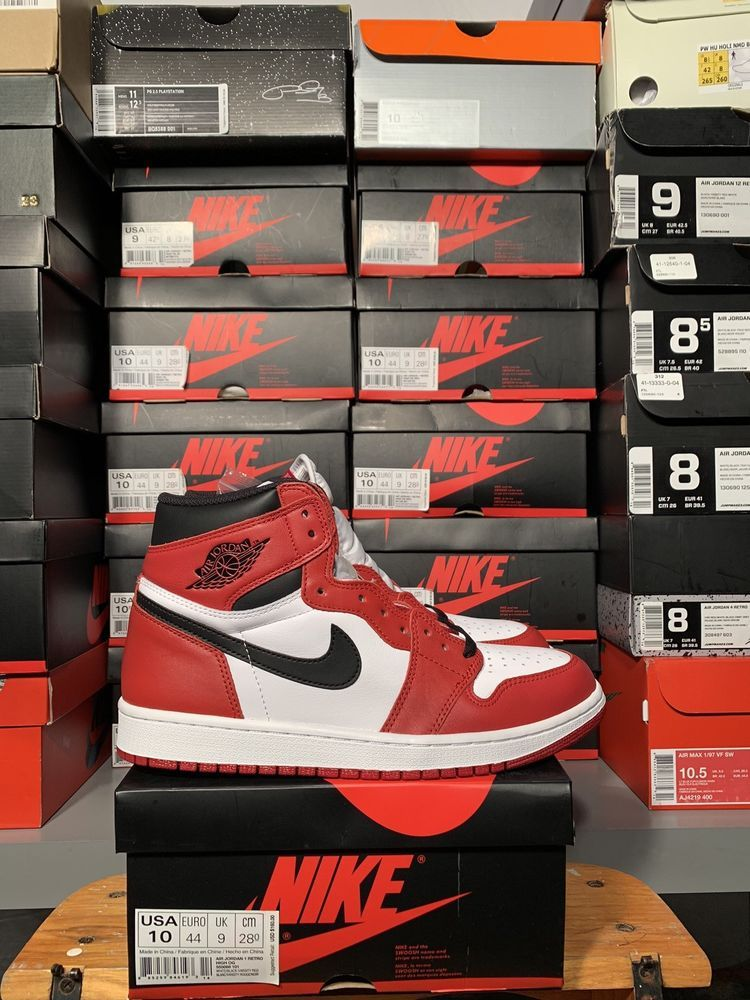 NIKE AIR JORDAN 1 OG HIGH RETRO CHICAGO SIZE 10 2015 Release ...