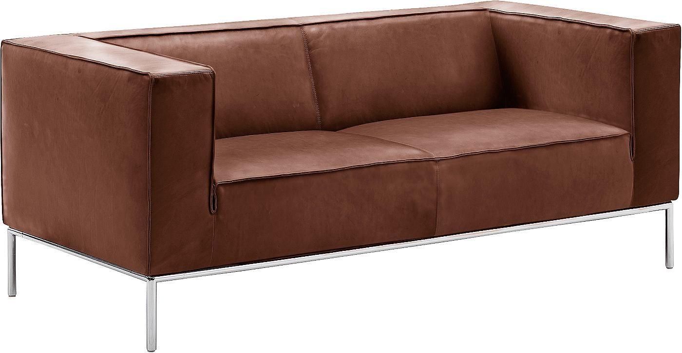 Machalke Schlafsofa machalke 2 sitzer sofa greg mit eleganten chromfüßen breite 180 cm