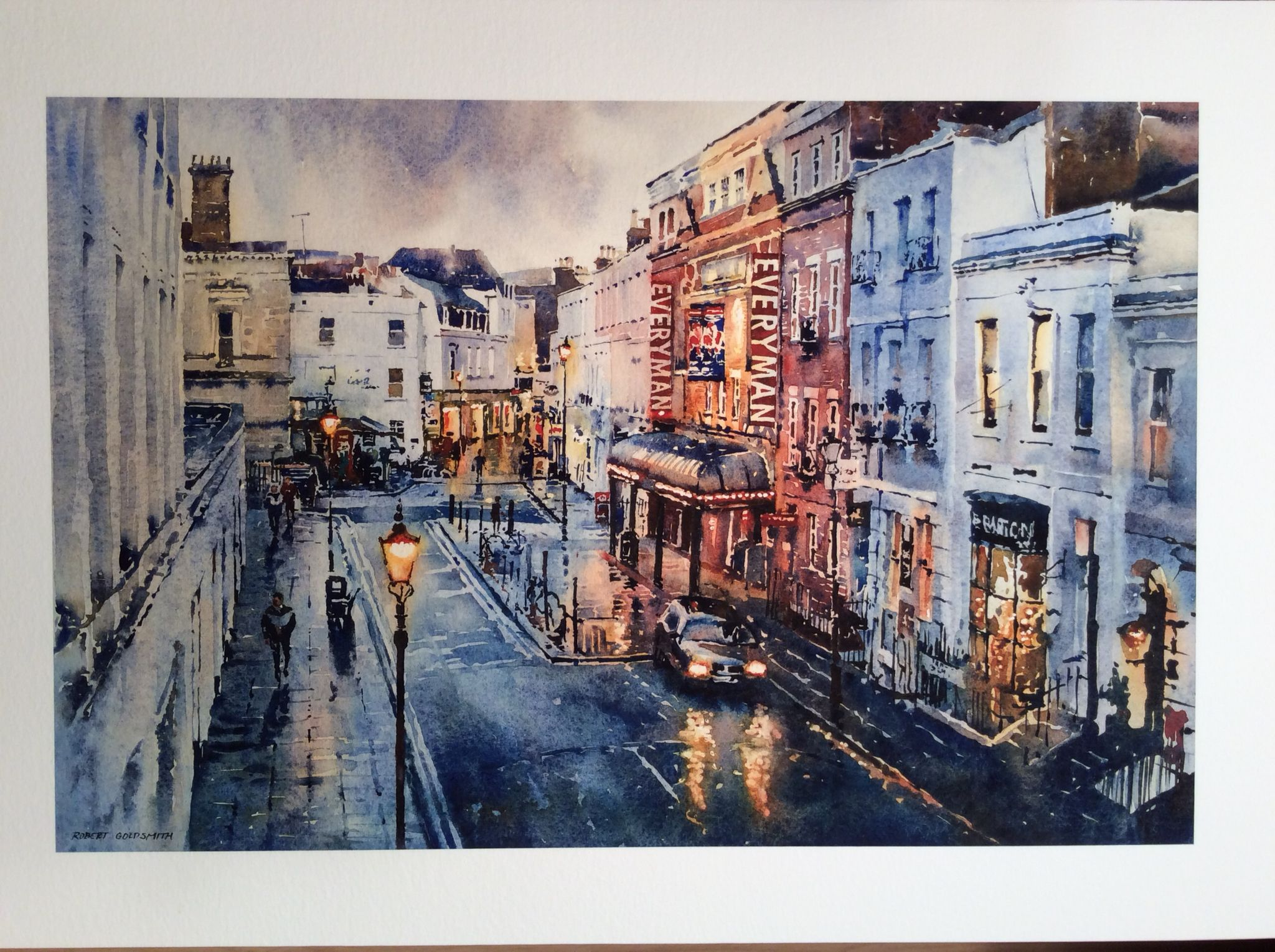 Everyman Theatre - Cheltenham Watercolour by Robert Goldsmith ...