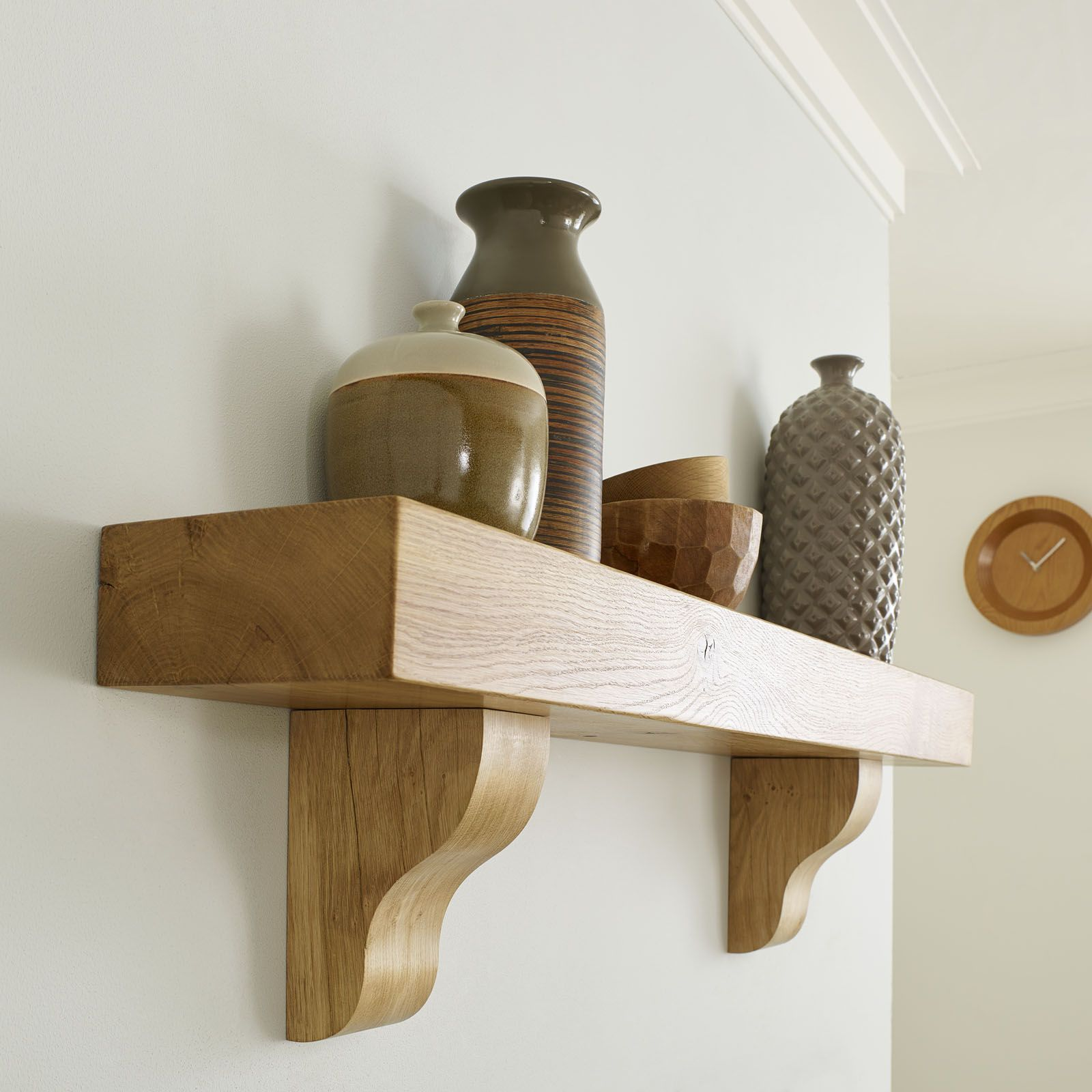Oak Corbel Bracket Shelf Solid European Character Beam