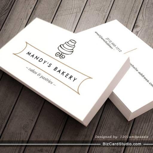VINTAGE CAKE LOGO I for Bakery, Cafe, Catering Business Card ...