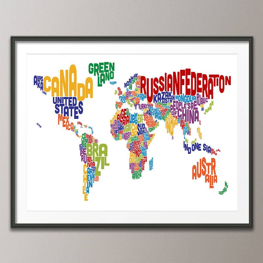 Typography World Map Awesome Stuff Is Awesome