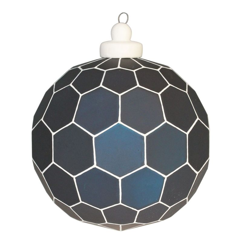Christmas Tree Lights Homebase: Find Geometric Blue Glass Bauble At Homebase. Visit Your