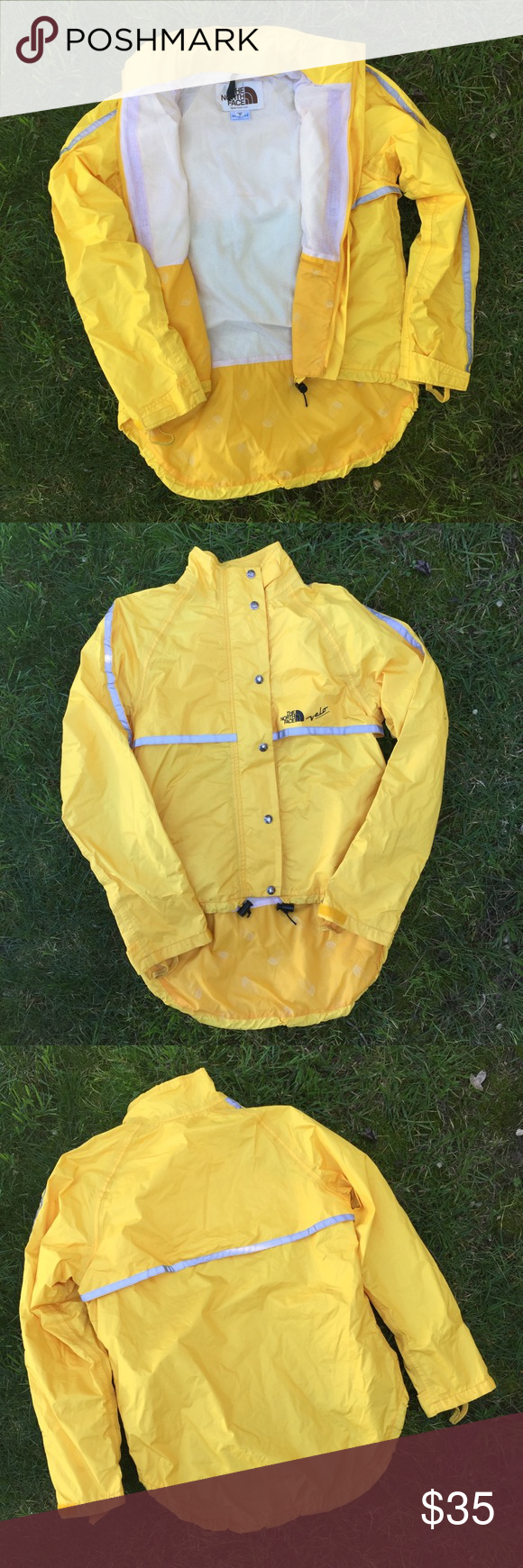 ️THE NORTH FACE yellow cyclist jacket Super fun color! It