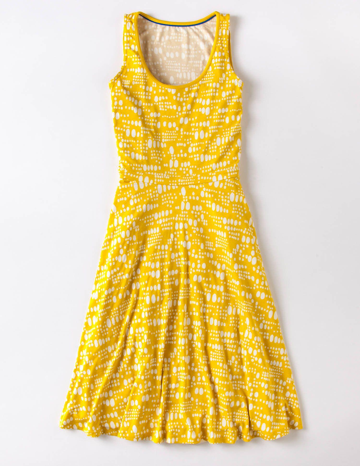 Yellow dress for women  Sport a little sunshine Boden Spring Erindress  style