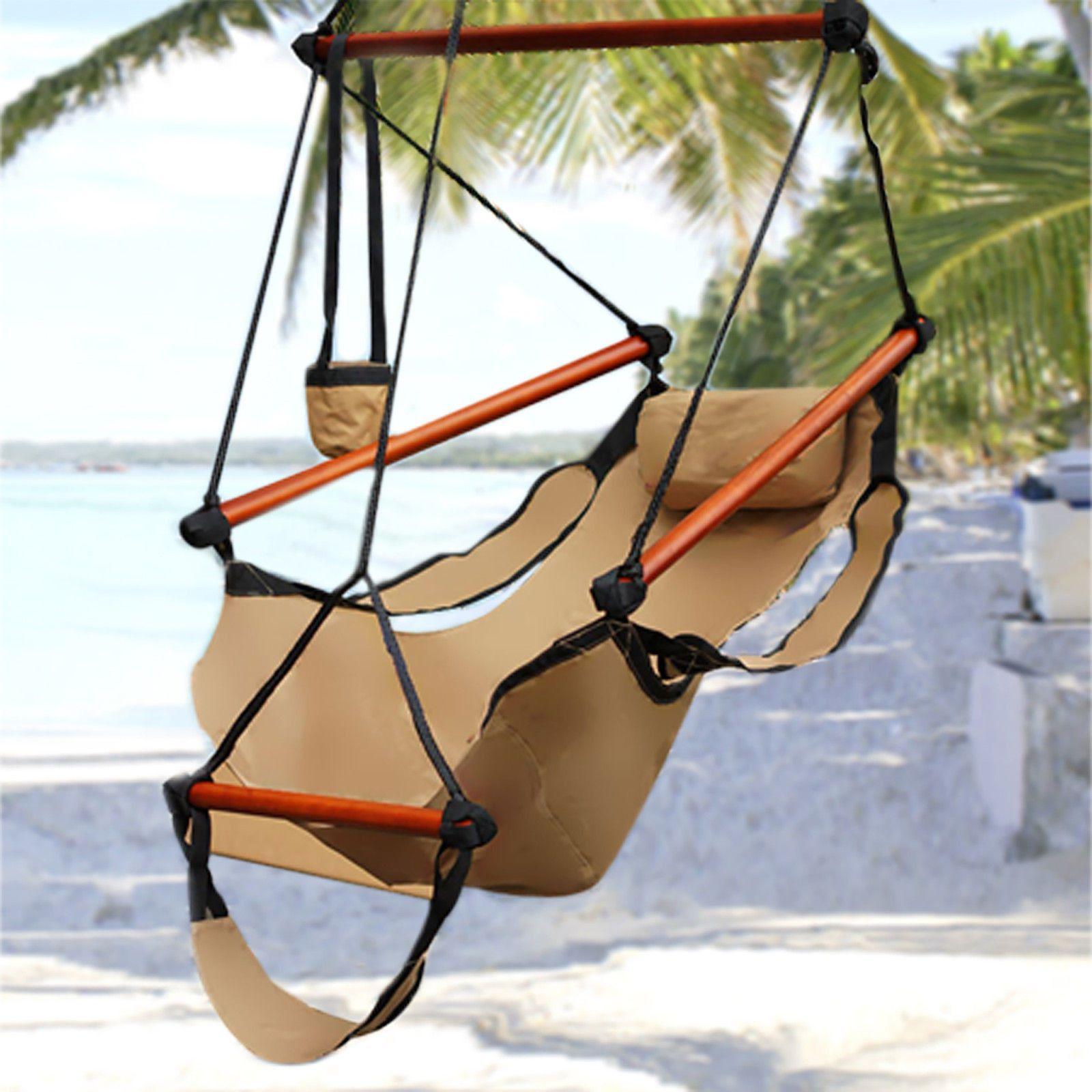 Adjustable hanging hammock chair in sand in كراسي pinterest